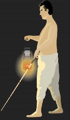 Lamp Aur Andha Aadmi moral story