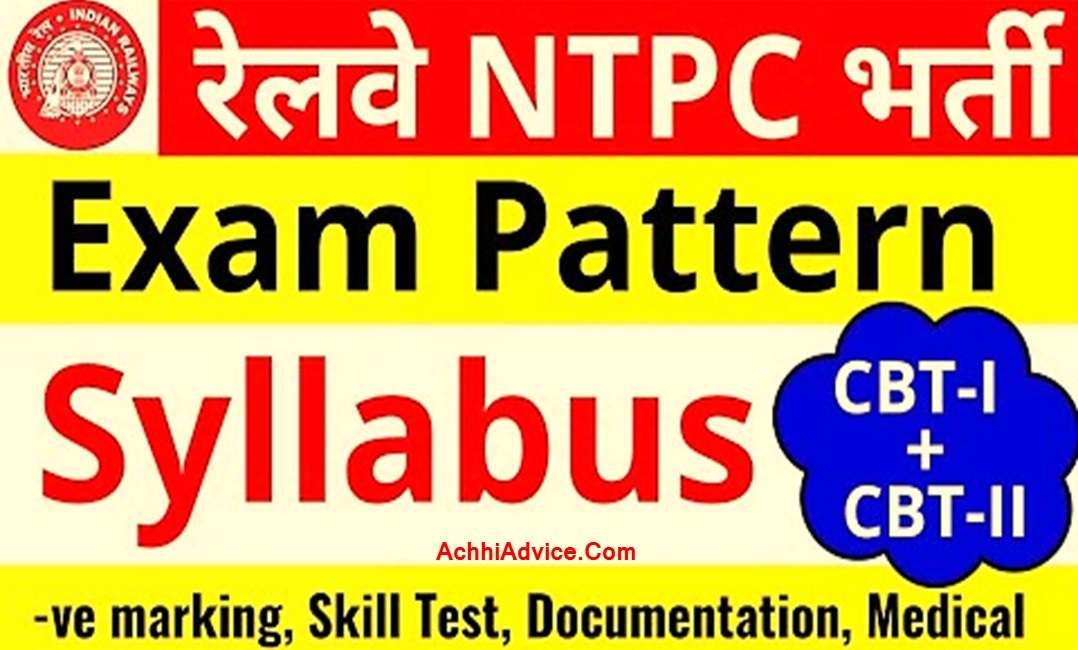 Rrb Ntpc Syllabus Question Exam Question Pattern full details in Hindi