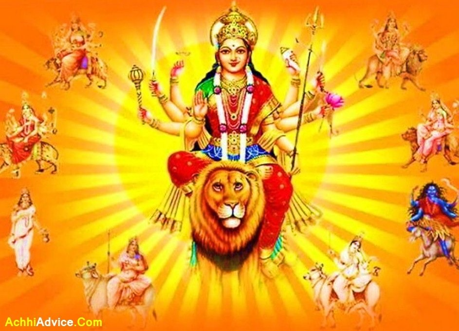 Happy Navratri to All My Friends Images HD Wallpaper