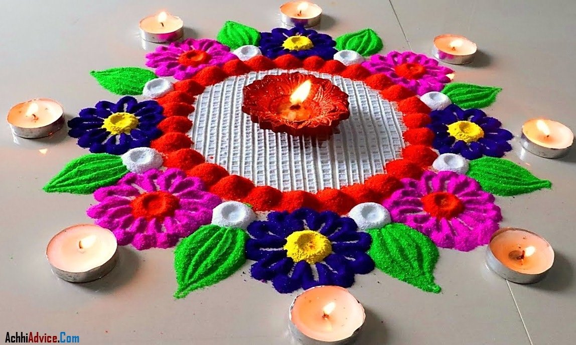 Beautiful Rangoli for Diwali
