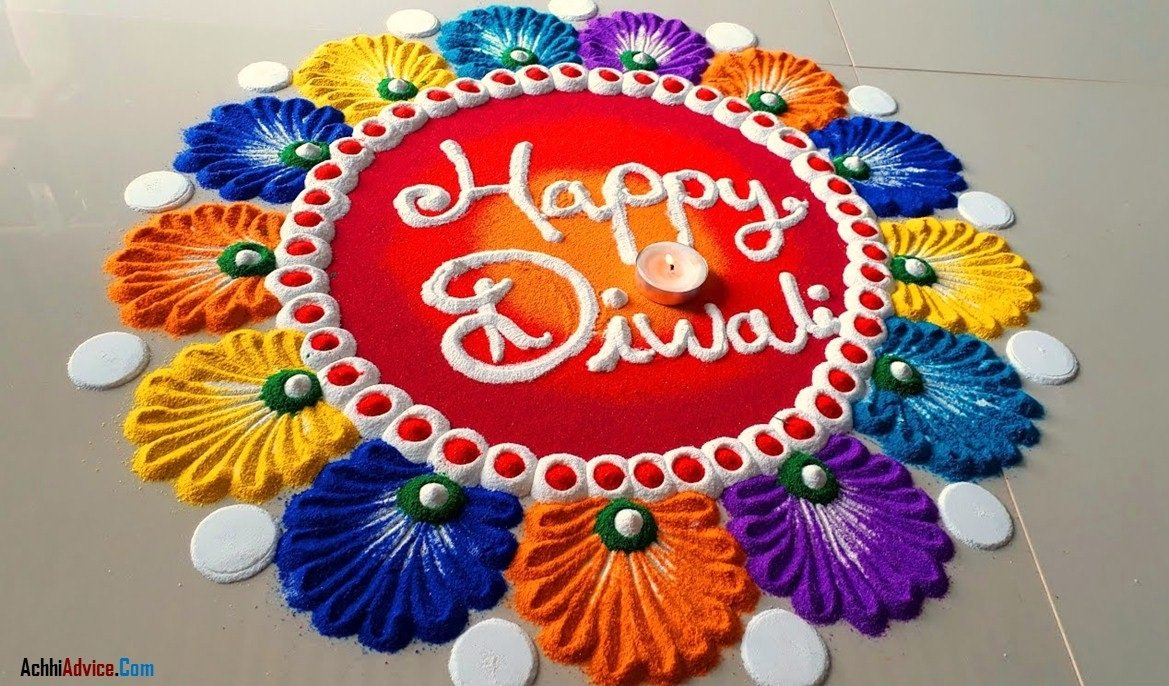 Colourful Diwali Rangoli Designs images
